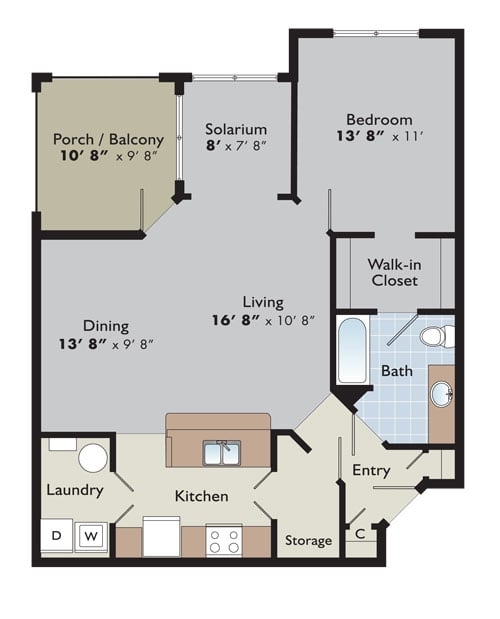 Birch Creek Apartments: Arden Place Floor Plans
