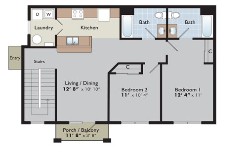 Floor plans and pricing arden place for 2 bedroom apartments for rent