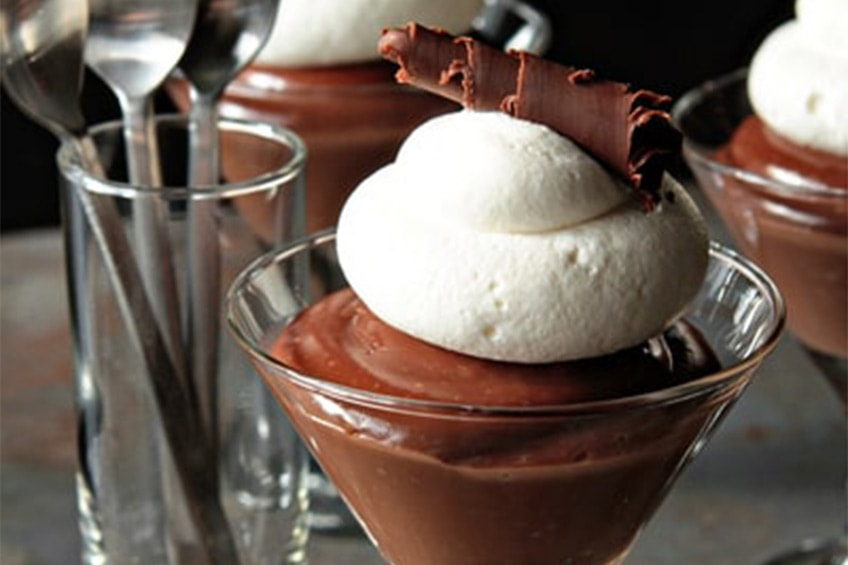 chocolate pudding with baileys irish cream