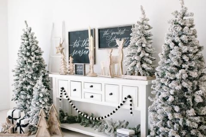 snowy christmas decor